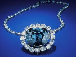The deep grayish-blue Hope Diamond weighs in at 45.5 carats.
