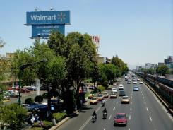 A Walmart in Mexico City. The company and U.S. investigators are probing allegations that company execs bribed Mexican officials.