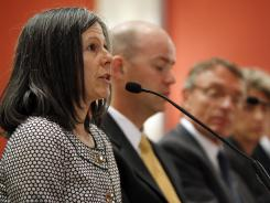 Kathleen Sgamma of the Western Energy Alliance testifies at a Denver field hearing of the House Subcommittee on Energy and Mineral Resources.