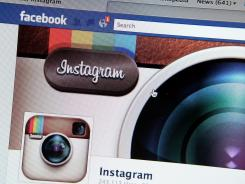 The photo-sharing app Instagram fan page is seen in this photo illustration on the Facebook web site on the Apple Safari web browser.