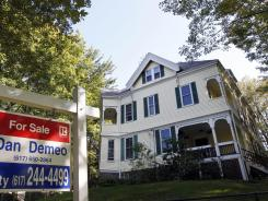 A home for sale in Newton, Mass., in September 2011.