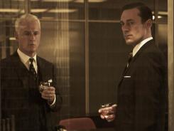 "Don Draper (Jon Hamm), right, of TV's ""Mad Men"" learned the hard way that you don't dis a former client."