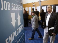 An April 24 job fair in Portland, Ore.
