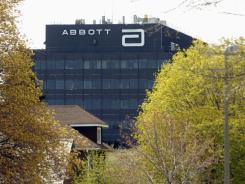 The Abbott Laboratories logo on an office building in North Chicago, Ill.