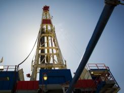A natural gas drilling rig in Waynesburg, Penn.