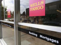 An advertisement for home mortgages at a Wells Fargo Bank in Menlo Park, Calif.