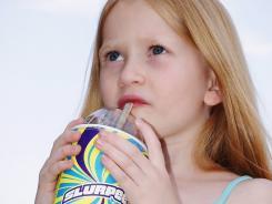 Estelle Hermansen sips on a Slurpee Lite Fanta Sugar-Free Mango.