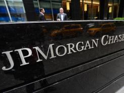 Outside JPMorgan Chase headquarters in New York.