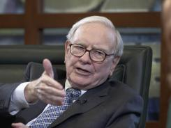 Warren Buffett during a May 7 interview on the Fox Business Network from Omaha.