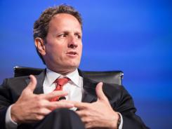 Treasury Secretary Timothy Geithner speaks at the 2012 Fiscal Summit May 15, 2012 in Washington, D.C., sponsored by the Peter G. Peterson Foundation.