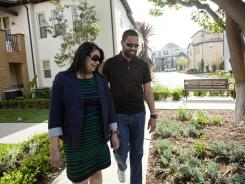 Maurice Turner and Preet Bassi, who live in an Anaheim, Calif., development, wanted urban amenities with a homey feel.