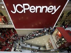 The main entrance of a J.C. Penney at Manhattan Mall in New York.