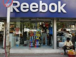 A Reebok shop in Mumbai, India.