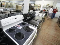 Ovens and other appliances at Southeast Steel warehouse showroom, in Orlando.