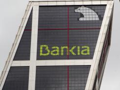 Spain's Bankia bank headquarters in Madrid in May 2012.