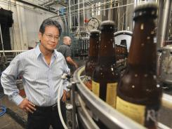 Founder Oscar Wong at Highland Brewing Company in Asheville, N.C.
