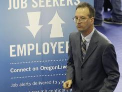 At a April 24 job fair in Portland, Ore.