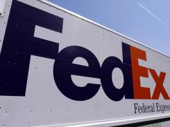 A FedEx delivery truck photographed at the Illinois State Capitol on May 16, 2012, in Springfield, Ill.