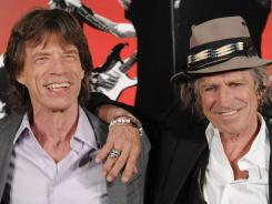 "Mick Jagger, left, and Keith Richards of the Rolling Stones don't appear in the new Omega ad but it does feature the band's song ""Start Me Up."""