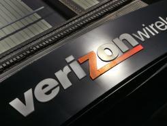 A Verizon sign in Portland, Ore.
