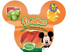 Crunch Pak Foodles are healthy snacks or mini-meals that are fun and easily transportable and come in a Mickey-shaped or Princess carriage tray.