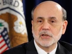 Federal Reserve Chairman Ben Bernanke at a news conference at the Federal Reserve on April 25, 2012.
