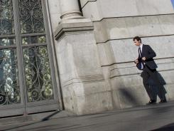 Outside the Bank of Spain in Madrid on June 5, 2012.