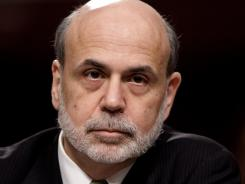 Federal Reserve Chairman Ben Bernanke testifies on Capitol Hill June 7, 2012, before the Joint Economic Committee.