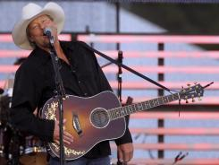 Alan Jackson performs in the parking lot of Louisa County High School in Mineral, Va., in May 2012.