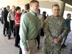 "An April 24 ""Hiring Our Heroes"" veterans job fair in Birmingham, Ala."