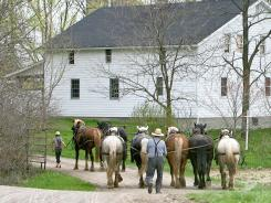 An Amish community near Logansville, Ohio.