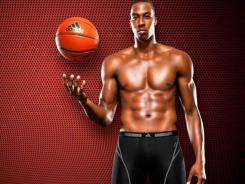 Dwight Howard: Orlando Magic star in and ad for Adidas underwear.