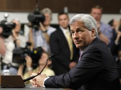 JPMorgan Chase CEO Jamie Dimon testifying on Capitol Hill in Washington, June 13, 2012, before the Senate Banking Committee.