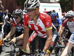 Lance Armstrong during a 2011 fundraising bike ride in Brisbane, Australia.