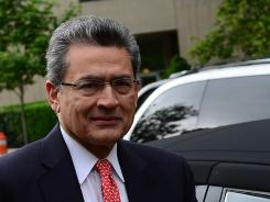 Former Goldman Sachs and Procter & Gamble board member Rajat Gupta arrives at the Manhattan Federal courthouse June 13, 2012.