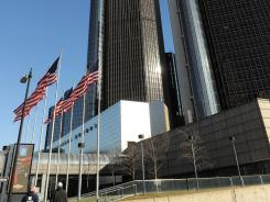 The General Motors headquarters in January 2012 in Detroit, Michigan.