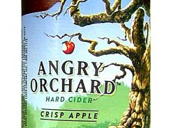 Angry Orchard Crisp Apple hard cider from Angry Orchard Cider Co. in Cincinnati has 5% ABV.