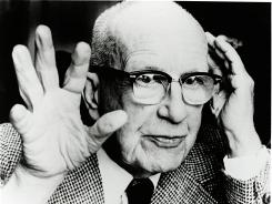 Architect, author, inventor and futurist Buckminster Fuller, 1895-1983.