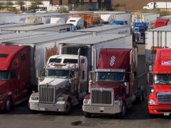 The trucking business is trying to cope with a shortage of drivers.