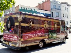 Clothes to go: Joey Wolffer drives her fashion truck, The Styleliner, to another spot in Washington, D.C.