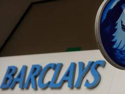The logo of British bank Barclays is seen on a branch in central London in this file photo.