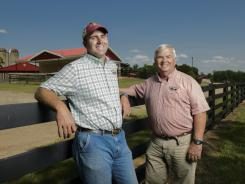 Jake Carter and his father Jimmy at their Southern Belle Farm in McDonough, Ga.