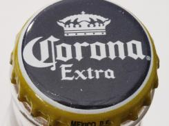 A bottle of Corona Extra beer.