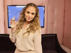 Jennifer Lopez celebrates 10 years of fragrance with Coty and the launch of her new scent Glowing by JLo at Hotel Bel Air on May 10, 2012, in Los Angeles.