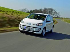 The Volkswagen Up mini car.