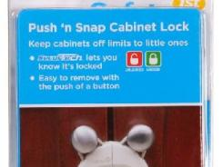 Push 'N Snap cabinet locks from Safety 1st were recalled earlier this year.