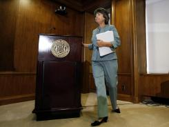 Former FDIC Chairman Sheila Bair at the Federal Deposit Insurance Corp. headquarters in Washington, D.C.