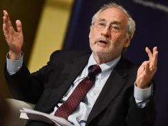 "Economist Joseph Stiglitz on May 2 at a conference in Rome titled ""Over the austerity: policy alternatives for employment and growth."""