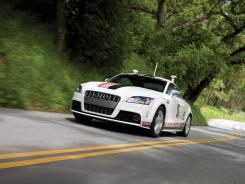 Audi sent a Quattro TTS sports car driving itself up Pikes Peak in 2010.