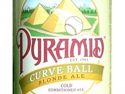 Curve Ball Blonde Ale from Pyramid Brewing Co., of Portland, Wash., is 5% ABV.